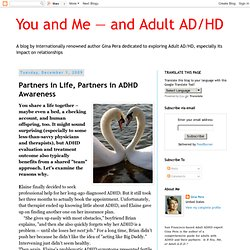 Partners in Life, Partners in ADHD Awareness