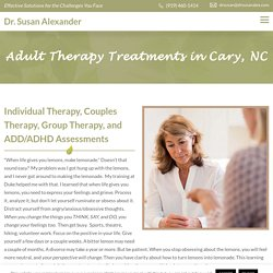 Adult Therapy Treatment in Cary, NC