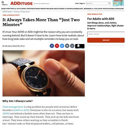 Adult Time Management Tips: Stop Running Late