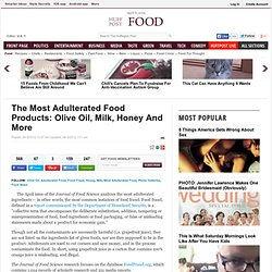 The Most Adulterated Food Products: Olive Oil, Milk, Honey And More