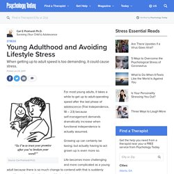 Young Adulthood and Avoiding Lifestyle Stress