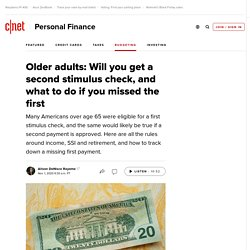 Older adults: Will you get a second stimulus check, and what to do if you missed the first