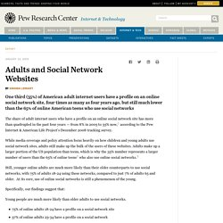 Adults and Social Network Websites