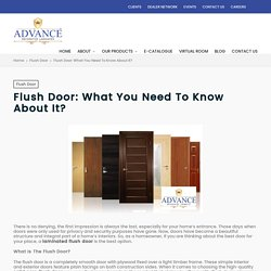 Flush Door: What You Need To Know About It? – Advance Decorative Laminates Pvt. Ltd.