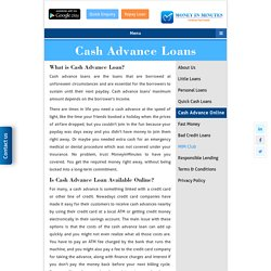 Cash Advance Loan - Get money within a flash with cash balance