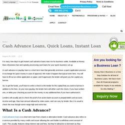 Cash Advance Loans, Quick Loans, Instant Loan, Cash Advances Near Me