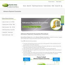 Advance Payment Guarantee - APG