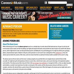 Advance Person Jobs - Career in Music