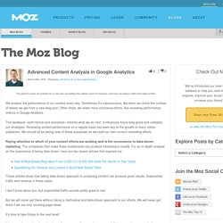 Advanced Content Analysis in Google Analytics