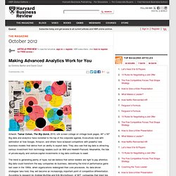 Making Advanced Analytics Work for You