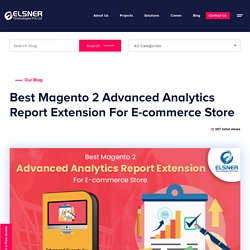 Magento 2 Advanced Analytics Report Extension For E-commerce