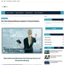 Get Latest Advanced Business Analytics In Financial Industry