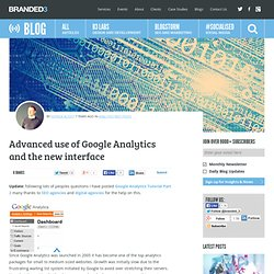 Advanced use of Google Analytics and the new interface