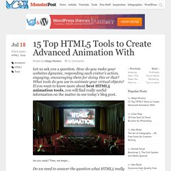 15 Top HTML5 Tools to Create Advanced Animation With