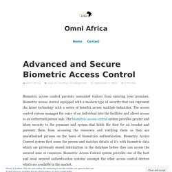 Find the Biometric Access Control System Provides