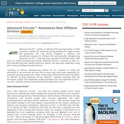 Advanced Circuits™ Announces New Offshore Division