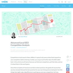 Advanced Local SEO Competition Analysis
