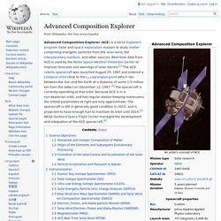 Advanced Composition Explorer