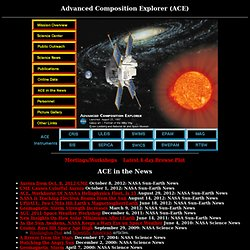 Advanced Composition Explorer (ACE) Home Page