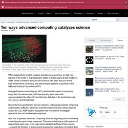 Ten ways advanced computing catalyzes science