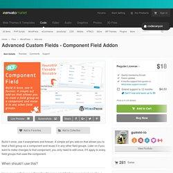 Advanced Custom Fields - Component Field Addon by gummi-io
