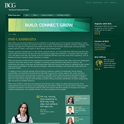 Advanced Degrees at BCG - Advanced Degrees at BCG - PhDs