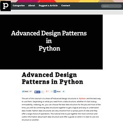 Advanced Design Patterns in Python
