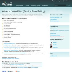 Advanced Video Editor (Timeline Based Editing)