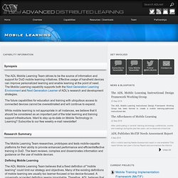 Advanced Distributed Learning Initiative » Mobile Learning