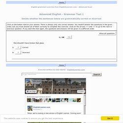 Advanced English - Grammar Test 1
