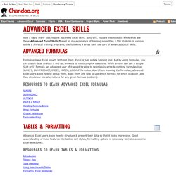 Advanced Excel Skills - What are they & How to become Advanced Excel user?