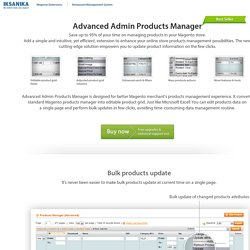 Advanced Admin Product Manager Plugin