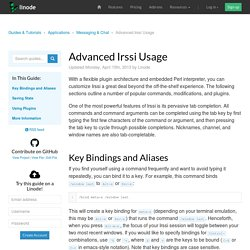 Advanced Irssi Usage