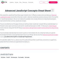 Advanced Javascript Cheatsheet □□
