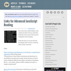 Links for Advanced JavaScript Reading