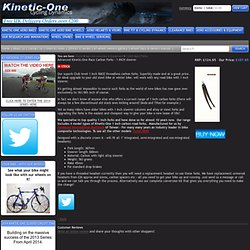 Advanced Kinetic-One Race Carbon Forks - 1 INCH steerer