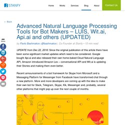 Advanced Natural Language Processing Tools for Bot Makers