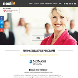 NESLI & Monash - Advanced Leadership Program