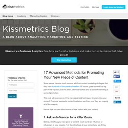 17 Advanced Methods for Promoting Your New Piece of Content