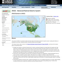ANSS - Advanced System sismique national