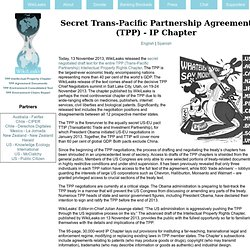 Secret TPP treaty IP Chapter: Advanced text with negotiation positions for all 12 nations