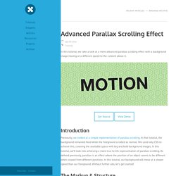 Advanced Parallax Scrolling Effect