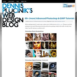 60+ (more) Advanced Photoshop & GIMP Tutorials