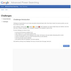 Advanced Power Searching
