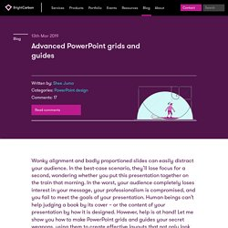 Advanced PowerPoint grids and guides