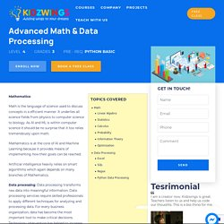 Advanced Math And Data Processing Classes Online