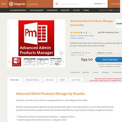 Advanced Admin Products Manager by Iksanika - Site Management
