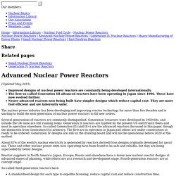 Advanced Nuclear Power Reactors