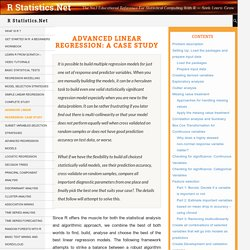Advanced Linear Regression: A Case study