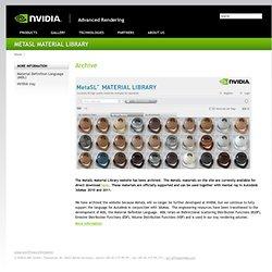 MetaSL Material Library